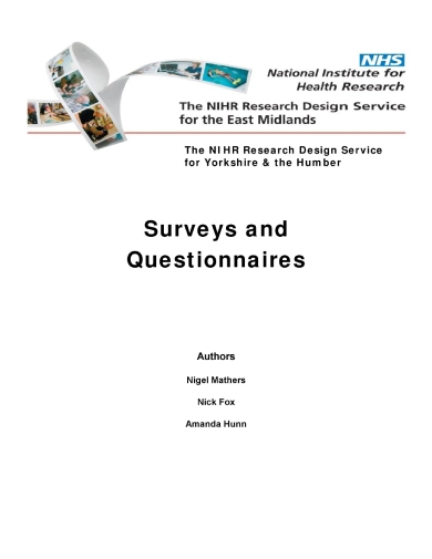 comprehensible survey and questionnaire writing
