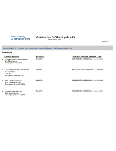 construction bid opening results1