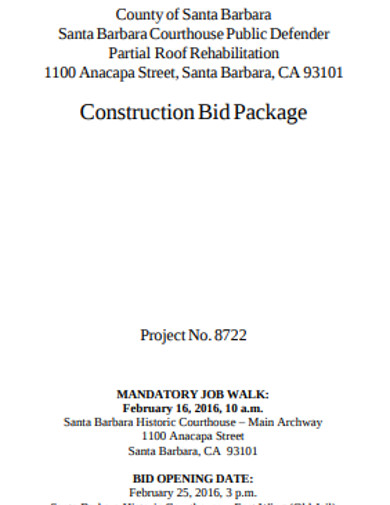construction bid package