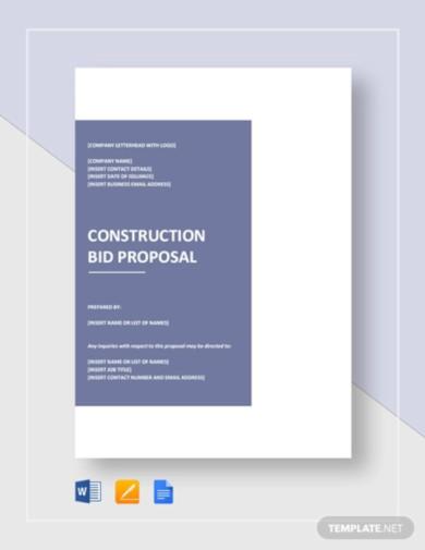 construction bid proposal template2