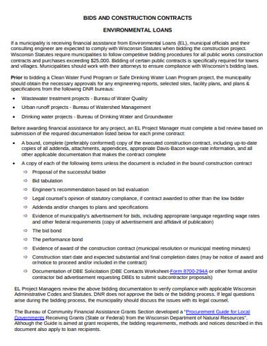 construction bid in pdf