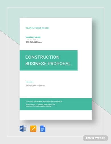 construction business proposal template