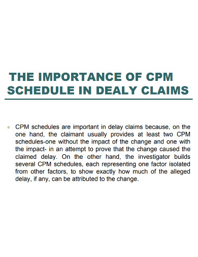 construction delay claim