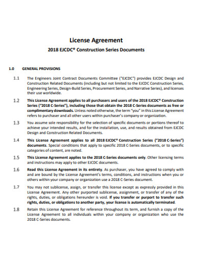construction license agreement