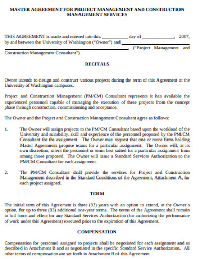 construction management agreement