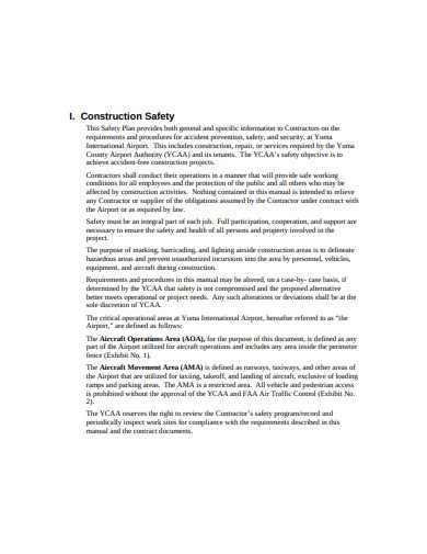 construction safety and security plan