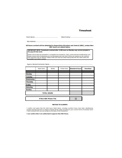 construction services timesheet
