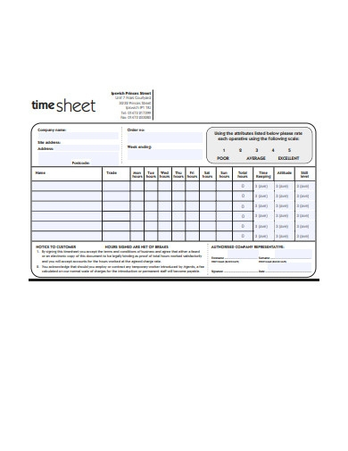 construction timesheet example
