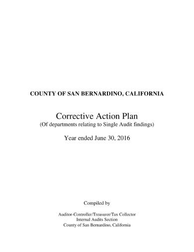 county corrective action plan