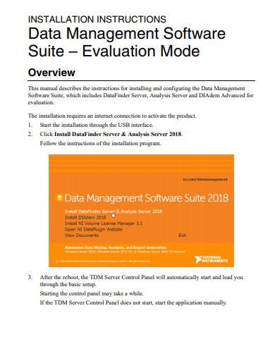 data management software evaluation