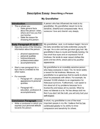 Picture description essay