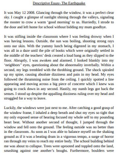 descriptive essay in pdf