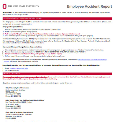 employee accident report example