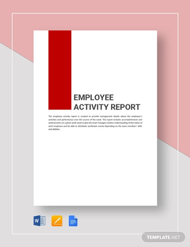 employee activity report template