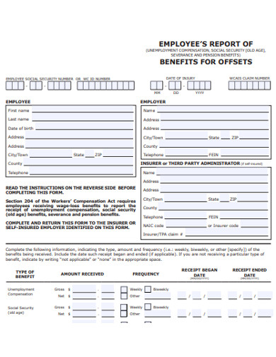 employee benfit report example