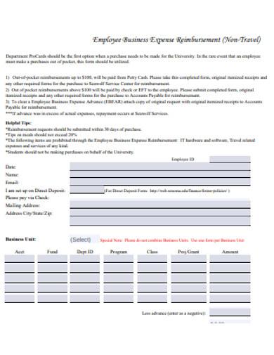 employee business expense reimbursement