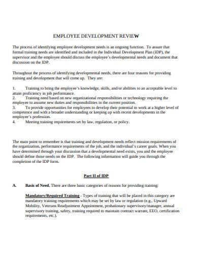 employee development review