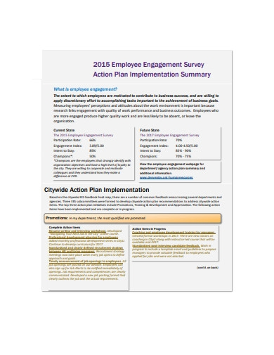 employee engagement survey action plan implemantation