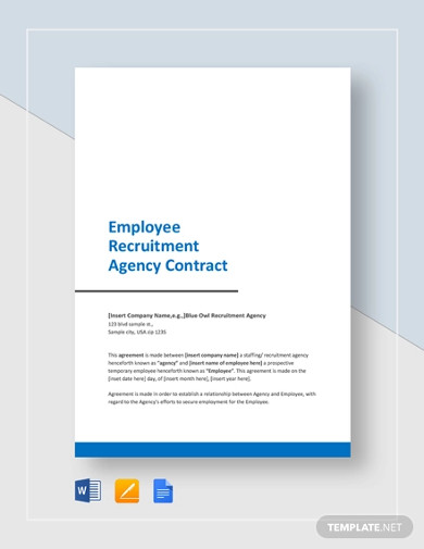 employee recruitment agency contract template
