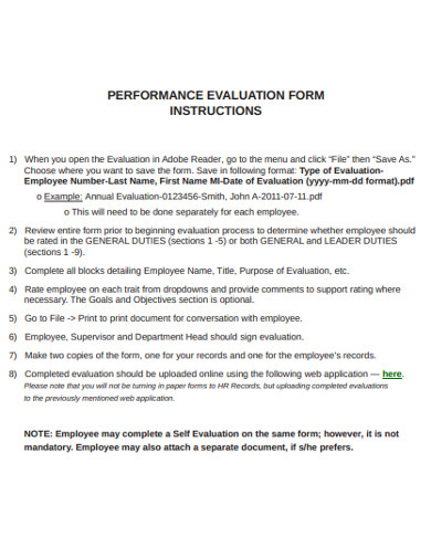 evaluation form in pdf