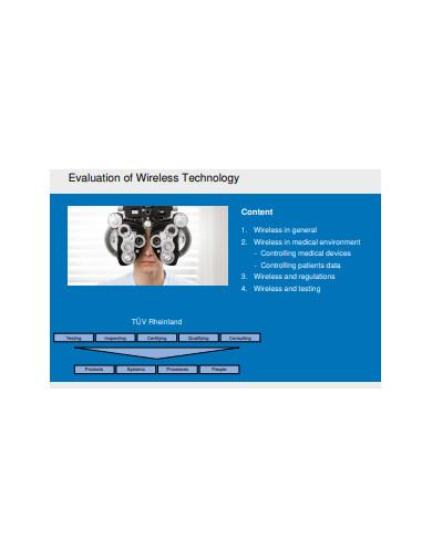 evaluation of wireless technology presantation