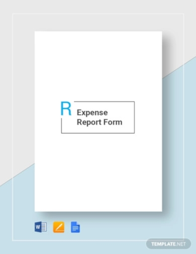 expense report form template