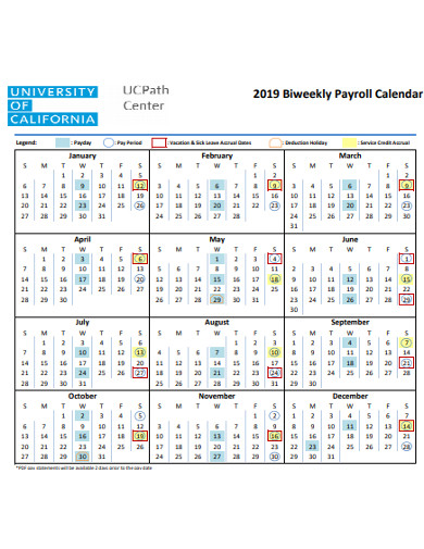 formal biweekly payroll calendar example