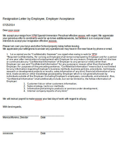 formal employee registration letter example