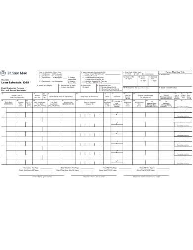 formal loan schedule example
