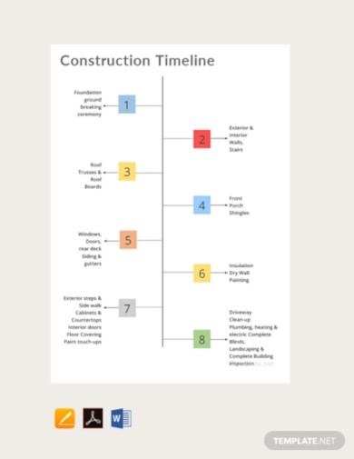free construction timeline template