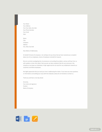 free employee acknowledgement letter