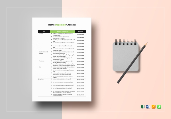 generic home inspection checklist