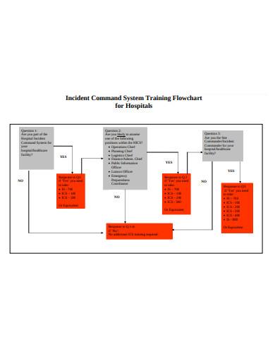 hospitals training flowchart
