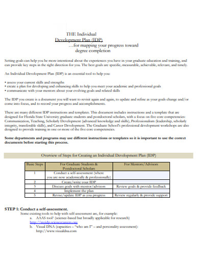 individual devolopment plan in pdf