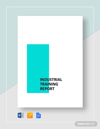industrial training report templates