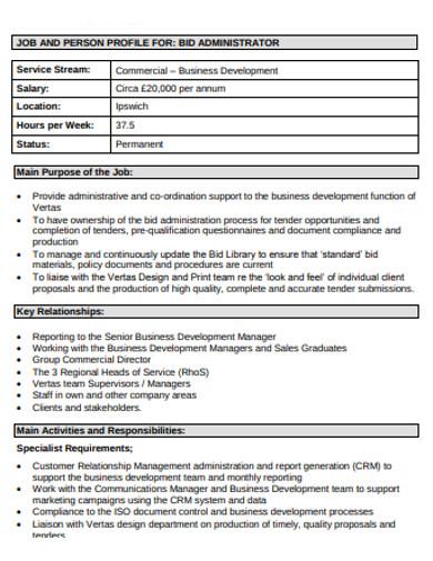 job bid administrator