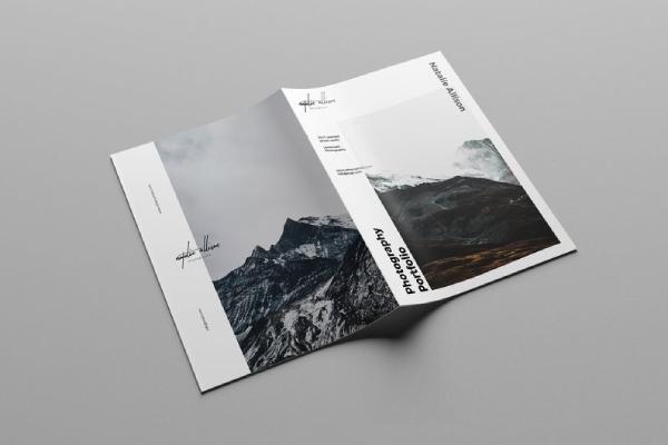 landscape photography portfolio brochure