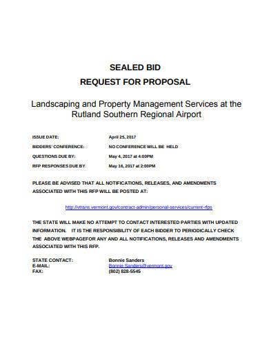 landscaping property management bid
