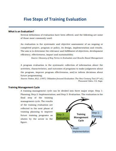 manual training evaluation