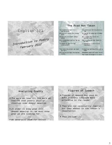 minimalist apostrophe poem examples