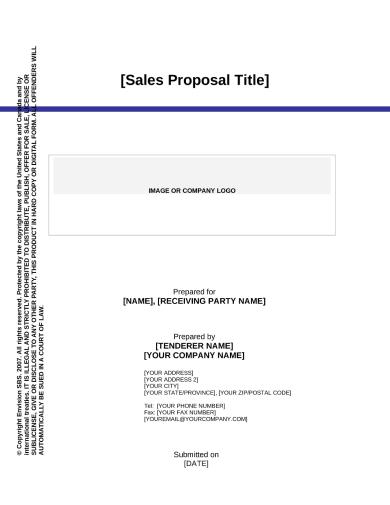 minimalist product sales proposal