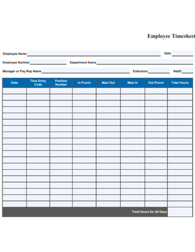 office employee timesheet