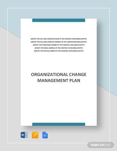 organizational change management plan template