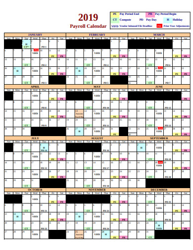 FREE 19+ Payroll Calendar Examples & Templates - PDF | Examples