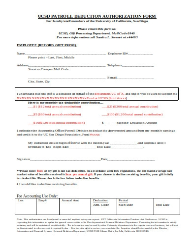 payroll deduction authorization form in doc