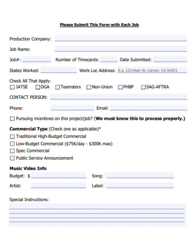 payroll submission form example