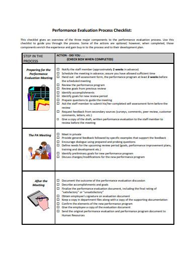 performance evaluation process checklist1