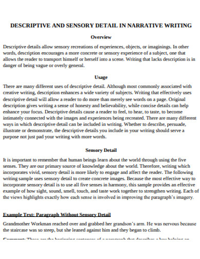 How to Write a Good Descriptive Paragraph - 25+ Examples in PDF