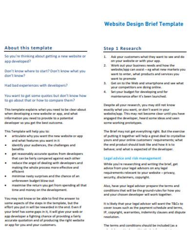 printable design brief