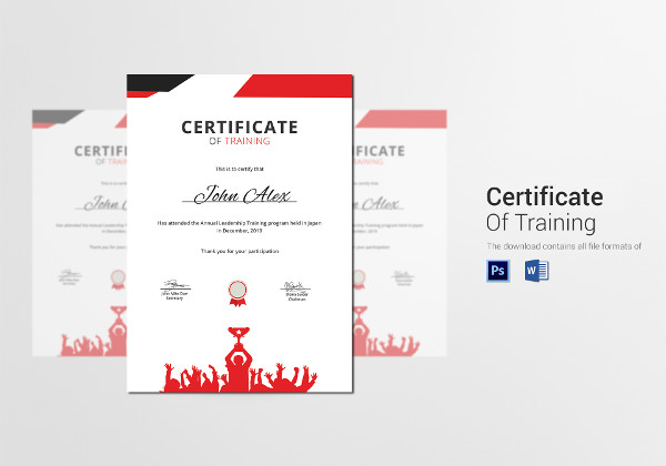 prize winner training certificate template